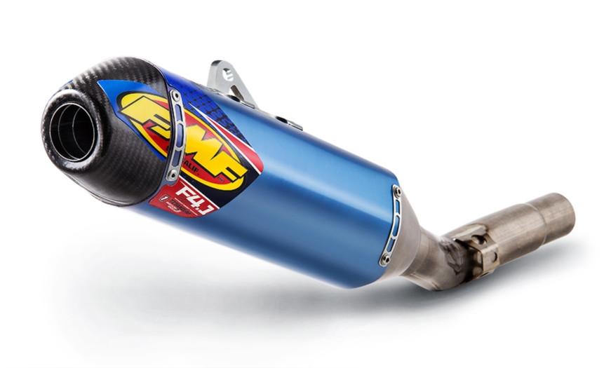 Blue Titanium Factory 4 1 RCT Slip On Exhaust Muffler - 16-17 Kawasaki  KX450F