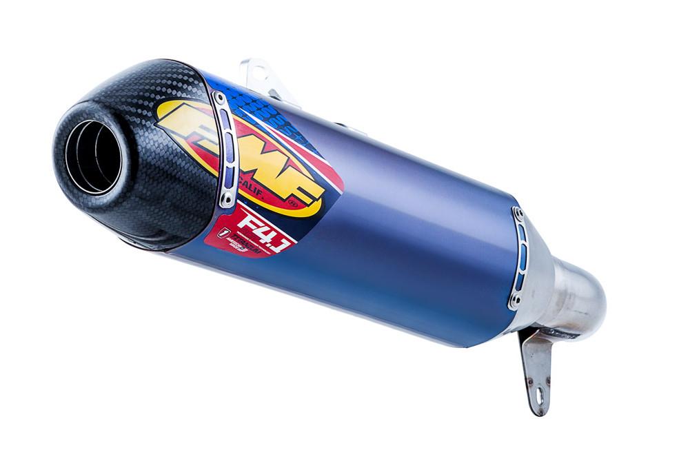 Blue Titanium Factory 4 1 RCT Slip On Exhaust - 04-14 Honda TRX450R