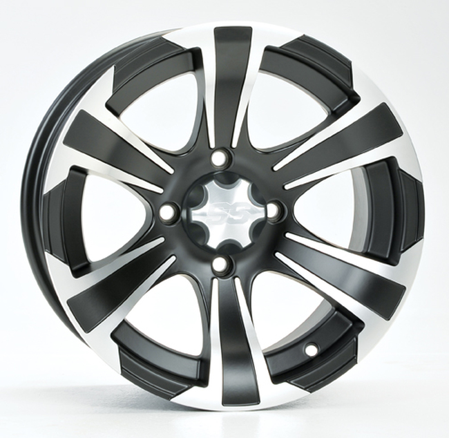 SS312 BLACK WHEEL 12X7 4/110 2+5 - Click Image to Close