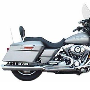 Chrome Boarzilla 2-1 LOUD Baffle Full Exhaust - 95-08 H-D Touring