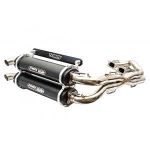 Stage 5 Full Exhaust - Black Mufflers - For 18-19 Polaris RZR RS1