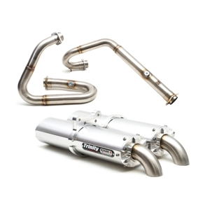 Stage 5 Full Exhaust - Dual Brushed Mufflers - For 12-17 Wildcat 1000