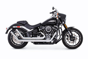 Chrome Up Sweeps Full Exhaust w/Sculpted Endcap - For 18-19 H-D Softail