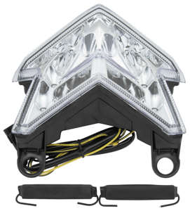 Clear Integrated Tail Light - LED Stop & Turn Lights - ZX636