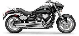 Speedster Slash Chrome Full Exhaust - 2009 Suzuki Boulevard M90