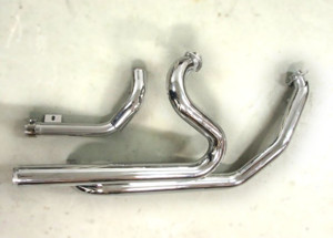 X Cat 2:2 True Dual Headers Chrome - 09-16 Harley Touring