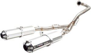Stage 5 Full Exhaust - Dual Brushed Mufflers - For 15-19 Raptor 700