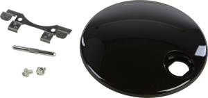 Fuel Tank Console Door Gloss Black - For 08-19 HD Touring