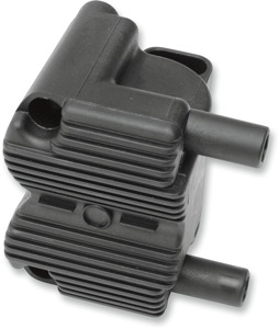 External Ignition Coil Black - For 01-17 Harley