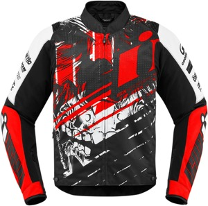 Overlord Textile Jacket - Stim Black, Red, White Men's 4X-Large
