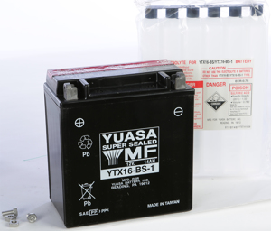 AGM Maintenance Free Battery YTX16-BS-1