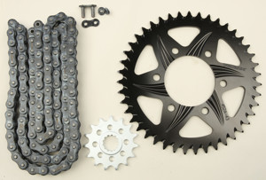 V3 Chain & Sprocket Kit Black SX Chain 520 15/43 Hardcoat Aluminum - For 07-19 Kawasaki ZX6R