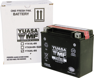AGM Maintenance Free Battery YTX20L-BS