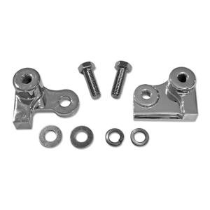 Chrome Rear Lowering Block Kit - 85-96 Harley Davidson FLH FLT