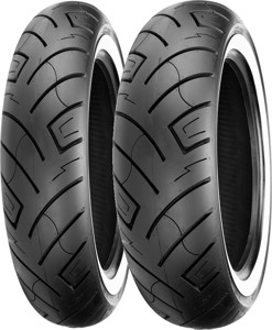 130/90B16 73H Front & 170/80B15 77H Rear 777 White Wall Reinforced Tires Set