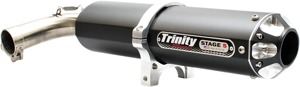 Stage 5 Slip On Exhaust - Black Muffler - For 16-19 YXZ1000R