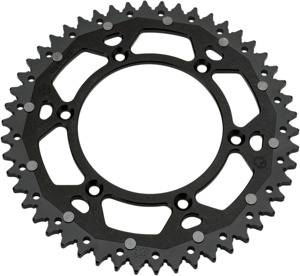 48T Black Dual Metal Rear Sprocket - For Kawasaki KLX Suzuki DR/Z RM/Z RMX
