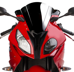 Dual Radius GP Windscreen - Solid Black - For 15-16 BMW S1000RR