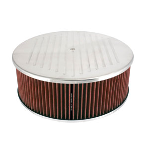 Aluminum Air Cleaner 14 X 5 Ball Milled