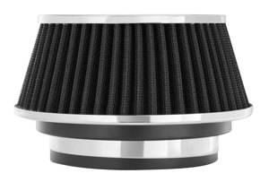 "Air Filter 2.625 in Tall - Cone Air Filter Short 3"", 3.5"", 4"" Black"