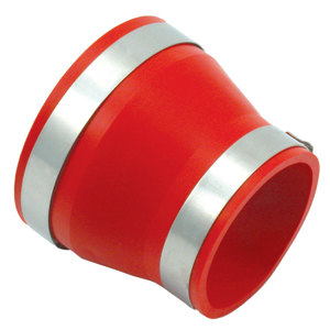 "Coupler/Reducer 4""-3.5"" PVC Red"