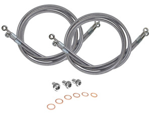 2 Line Front Stainless Steel Brake Line Kit - 06-07 POLARIS OUTLAW 500
