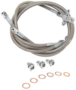 Front Stainless Steel Brake Line Kit