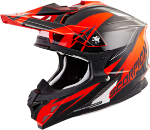 VX-35 Krush Motorcycle Helmet Neon Orange X-Small