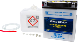 12V Heavy Duty Battery w/Acid Pack - Replaces YB12A-A