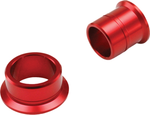Anodized Rear Wheel Spacers Red - For 02-19 Honda CR/CRF