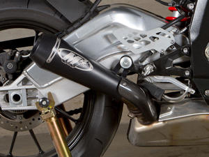 10-14 BMW S1000RR M4 GP Black Slip On Exhaust Muffler - GP Slip On Exhaust