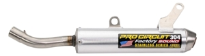 304 Aluminum Slip On Exhaust Silencer - 03-18 YZ250/X