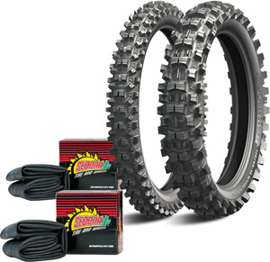 Starcross 5 Med Front+Rear Tires 110/90-19 80/100-21 w/Tubes