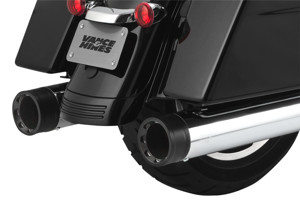 450 Destroyer Chrome Black Tip Dual Slip On Exhaust
