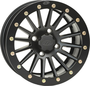 SD BEAD LOCK MATTE BLACK WHEEL 12X7 4/156 4+3 - BLACK RING