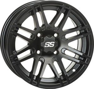 SS316 MATTE BLACK WHEEL 12X7 4/110 2+5