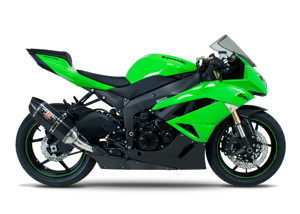 Street R77 Carbon Fiber Slip On Exhaust - 09-12 Kawasaki ZX6R