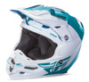 F2 Carbon Pure Motocross Helmet Teal/White X-Small