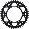 Aluminum Rear Sprocket 48T Black - For 80-16 Kawasaki Suzuki