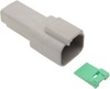 Grey 2 Pin Receptacle - Replaces DEUTSCH DT Style & H-D 72122-94GY