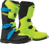 Blitz XP Dirt Bike Boots - Black & Flo Green MX Sole Youth Size 6