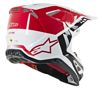 Supertech M8 Triple Motorcycle Helmet Red/White X-Small