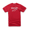 Ride 2.0 Tee Red/White Small