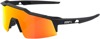 Speedcraft XS Sunglasses Black w/ Orange/Red Mirror Lens