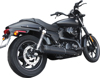 "GP Black 4"" Slip-On Exhaust - For 15-19 H-D XG500 XG750 Street"
