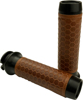 Leather Moto Grips Black/Tan Honeycomb - Indian Scout