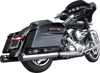 GP Touring Chrome Slip-On Exhaust - For 09-15 Harley FLH FLT