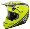 F2 Carbon Rewire Motorcycle Helmet Hi-Vis/Black Small
