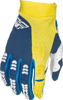 Evolution 2.0 MX Riding Gloves Navy/Yellow Sz 13
