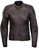 Catalina Womens Leather Riding Jacket Brown Xs